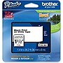 "Brother 36mm (1.4"") Black on White Tape for P-Touch, 8m (26.2 ft)"
