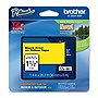 "Brother 36mm (1.4"") Black on Yellow Tape for P-Touch, 8m (26.2 ft)"