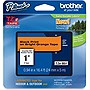 "Brother TZe-B51 Label Tape - 0.94"" Width x 16.40 ft Length - 1 Roll - Direct Thermal - Fluorescent Orange"
