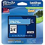 "Brother TZe-545 Label Tape - 0.70"" Width x 26.20 ft Length - Direct Thermal, Thermal Transfer - Blue"