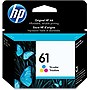 HP 61 Ink Cartridge - Cyan, Magenta, Yellow - Cyan, Magenta, Yellow - Inkjet - 165 Page - 1 Pack