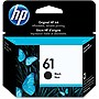 HP 61 Ink Cartridge - Black - Black - Inkjet - 190 Page - 1 Pack