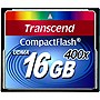 Transcend 16 GB CompactFlash (CF) Card - 1 Card