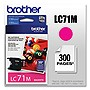 Brother Innobella LC71M Standard Yield Ink Cartridge - Inkjet - 300 Page - 1 Each