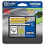 "Brother TZe-N201 Label Tape - 0.13"" Width x 26.20 ft Length - 1 Each - Thermal Transfer - Black"
