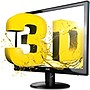 "AOC E2352PHZ 23"" 3D LED LCD Monitor - 16:9 - 5 ms - Adjustable Display Angle - 1920 x 1080 - 16.7 Million Colors - 250 Nit - 20,000,000:1 - Speakers - DVI - HDMI - VGA"