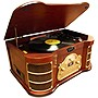 PyleHome VINTAGE PTCDS2UI Record/CD/Cassette Turntable - 33.33, 45, 78 rpm - Analog Magnetic, CD-RW