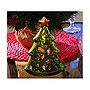 HomeReflections Ceramic Holiday Character Luminary w/Timer (Tree) - H191501