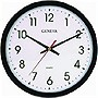 "14"" Quartz Commercial Wall Clock (Black Plastic)"
