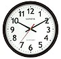 "14"" Electric Quartz Wall Clock (Black)"