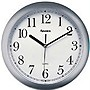 "10"" Advance Plastic Wall Clock (Silver)"