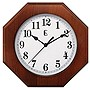 "Geneva 10"" Wood Wall Clock - Octagon"