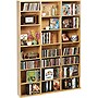 OSKAR+WOOD+MM+CABINET+MAPLE+HOLDS+756+CDS+OR+360+DVDS%2fBLU-RAYS