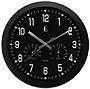 "Geneva Décor 12"" Plastic Wall Clock (Black)"