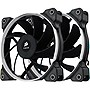 "Corsair Air Series AF120 Performance Edition TWIN PACK - 2 x 4.72"" - 1650 rpm Hydraulic Bearing"
