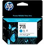 HP 711 3-pack 29-ml Cyan Ink Cartridges - Inkjet - 3 / Pack