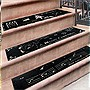 Non-Slip Christmas Holiday Rubber Stair Tread Mats - Set of 3 - Greet guests with a cheery message!