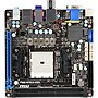 MSI FM2-A75IA-E53 Desktop Motherboard - AMD A75 Chipset - Socket FM2 - Mini ITX - 1 x Processor Support - 16 GB DDR3 SDRAM Maximum RAM - Hybrid CrossFireX Support - Serial ATA/600 RAID Supported Controller - CPU Dependent Video - 1 x PCIe x16 Slot - 2 x U