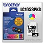 Brother Innobella LC1053PKS Ink Cartridge - Cyan, Magenta, Yellow - Inkjet - 1200 Page Cyan, 1200 Page Magenta, 1200 Page Yellow - 3 / Pack