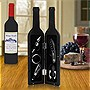 Deluxe Wine Bottle Gift Set - Bottle Opener, Stopper, Drip Ring, Foil Cutter and Wine Pourer