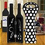 Deluxe Wine Bottle Gift Set with Built NY Black and White Big Dot Wine Bottle Tote Bundle
