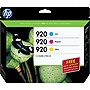 HP 920 Combo Pack Ink Cartridge - Cyan, Magenta, Yellow - Inkjet - 300 Page Cyan, 300 Page Magenta, 300 Page Yellow - 3 / Pack - OEM