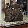 Travelon Quilted Nylon Shoulder Bag with Adjustable Shoulder Strap - Chocolate