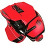 Mad Catz M.O.U.S. 9 Wireless Mouse - Laser - Wireless - Bluetooth - Red - USB - Scroll Wheel - 10 Button(s)