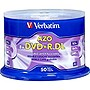 Verbatim DVD Recordable Media - DVD+R DL - 8x - 8.50 GB Spindle - 120mm4 Hour Maximum Recording Time