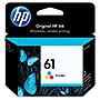 HP 61 Ink Cartridge - Cyan, Yellow, Magenta - Inkjet - 165 Page - 2 / Pack