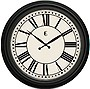 24IN PLASTIC WALL CLOCK MATTE BLACK FINISH