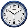 Geneva 10in Plastic Wall Clock - Navy Blue