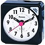 CUBE TRAVEL ALARM CLOCK BLACK QUARTZ ANALOG