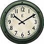 12IN PLASTIC WALL CLOCK METALLIC FINISH