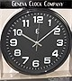 12IN GUNMETAL WALL CLOCK METAL CASE & HANDS
