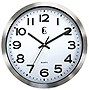 10IN METAL WALL CLOCK BRUSHED SILVER
