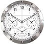 13.7IN METAL WALL CLOCK MULTI-TIME ZONES