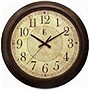 14IN PLASTIC BRONZE WALL CLOCK METALLIC FINISH