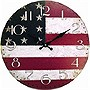 12IN MDF WALL CLOCK US FLAG