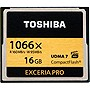Toshiba Exceria Pro 16 GB CompactFlash (CF) Card - 160 MBps Read - 150 MBps Write - 1 Card