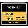 Toshiba Exceria Pro 64 GB CompactFlash (CF) Card - 160 MBps Read - 150 MBps Write - 1 Card