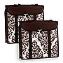 Travelon+Hanging+Handbag+Organizer+-+Set+of+2+(Chocolate+Damask)