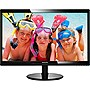 "Philips 246V5LHAB 24"" LED LCD Monitor - 16:9 - 5 ms - Adjustable Display Angle - 1920 x 1080 - 16.7 Million Colors - 250 Nit - 1,000:1 - Speakers - HDMI - VGA - Glossy Black"