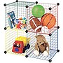 "Whitmor Storage Rack - 14.5"" Width x 14.5"" Depth - Steel, Plastic - Red, Blue, Green, Yellow"
