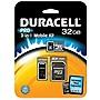 Duracell DU-3IN1C1032G-R 32 GB microSD High Capacity (microSDHC) - Class 10 - 1 Card