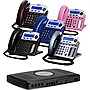 XBlue X16 Small Office Phone System 6 Line Digital Speakerphone - Titanium Metallic