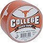 "Duck College Tape - Texas - 1.88"" Width x 30 ft Length - Easy Tear - 6 / Case"