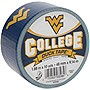 "Duck College Tape - West Virginia - 1.88"" Width x 30 ft Length - Easy Tear - 6 / Case"