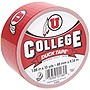 "Duck College Tape - Utah - 1.88"" Width x 30 ft Length - Easy Tear - 6 / Case"