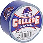 "Duck College Tape - Boise State - 1.88"" Width x 30 ft Length - Easy Tear - 6 / Case"